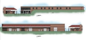 An architect's rendering of the proposed new Letcher County vocational and technical school.