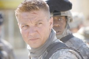 """Actor Jeremy Renner is shown in a scene from """"The Hurt Locker."""" The National Society of Film Critics this week selected the film as the best picture of 2009. The film is also nominated for a Golden Globe award for best motion picture drama. The Golden Globe awards will be held Jan. 17. (AP Photo/Summit Entertainment)"""