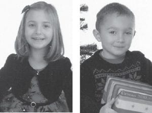 SISTER AND BROTHER — Kylie Cornett turned seven years old on January 2. Her brother Jacob is four years old. They are the children of Christina Crawford of Berea, and the grandchildren of Regina Crawford of Berea and Robbie Crawford of Brodhead. Their great-grandparents are Bennett and Linda Combs of Ice and the late Roy and Nancy Crawford.