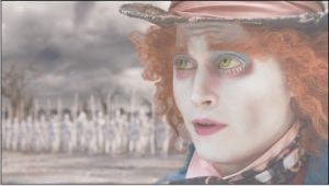 "Johnny Depp is shown as The Mad Hatter in a scene from the film, ""Alice in Wonderland."" (AP Photo/Disney)"