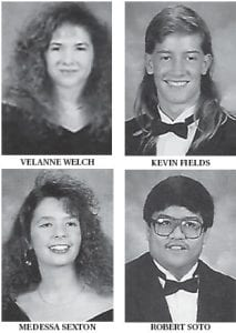 CLASS OF 1992 VALEDICTORIANS — Chris Craft's picture was not avaiable.