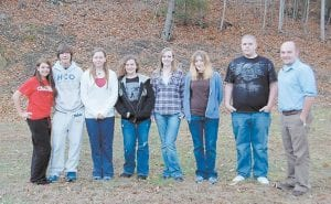 Members of the Letcher County 4-H teen council are (from left) Emily Spangler, Trevor Adams, Mychaela Starr, Savannah Reynolds, Samantha Short, Danielle Warrick, Terry Wolfe and new Letcher County 4-H Agent Jason Brashear.