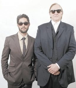 T-Bone Burnett, right, and Ryan Bingham posed for a portrait after the Academy Award Nominees Luncheon in Beverly Hills recently. (AP Photo)