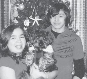 BIRTHDAY — Forrester Finchum celebrated his 15th birthday Feb. 21. He is pictured with his 12-year-old sister, Calla. They are the children of Michael and Ramona Finchum of Louisville, Their grandparents are Bennett and Linda Combs of Ice, and Hilda Finchum of Louisville.