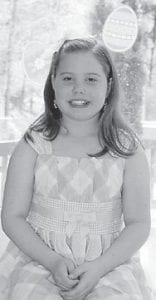NINTH BIRTHDAY —Jessica Danielle Boggs was nine years old Feb. 22. She is the daughter of Marvin and Malinda Boggs of Cowan, and granddaughter of Omera Lee and Christine Isaac of Jackhorn and Cassel and Opal Boggs of Cowan. She has three older brothers, Matthew, 16, Joshua, 15, and Tyler, 10.