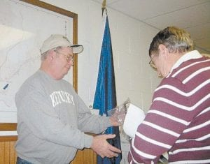 """'UNSUNG' HERO — Jenkins Mayor Charles Dixon presented an """"Unsung Hero"""" award to David Little of Burdine. Little is president of the Burdine Elementary School PTO and volunteers in several other city functions."""