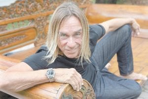 Rock and roll icon Iggy Pop posed in Miami last week. (AP Photo)