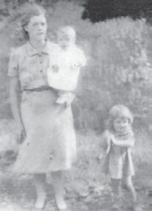 MOTHER AND DAUGHTERS — The late Cindy Howard is pictured with her daughters Betty (Howard) Tyree and the late Della (Howard) Pennington in 1943.
