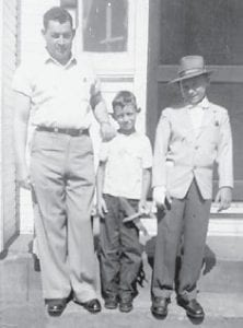 FIELDS FAMILY — The late Hillar Fields and his sons the late Denver and Dennis Fields were the father and brothers of the Dorothy Miles of Cowan.