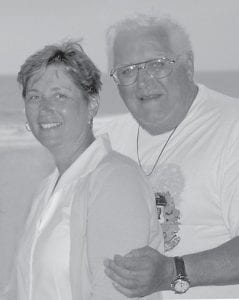 This Aug. 2008 handout photo provided by Carol Filak shows Joseph Hoff man of West Orange, N.J., with his daughter Carol Filak of Clifton, Va. Filak had to repeatedly ask her father's cardiologist to turn off his implanted defibrillator when, dying of cancer, the 81-year-old entered hospice in January. (AP Photo/Family Photo provided by Carol Filak)