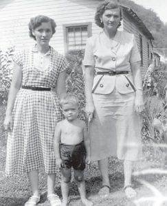 FRIENDS — Pictured is the late Imogene Hatton, widow of Maney Hatton, with her son Paul Hatton and Carrie (Hatton) Gibson.