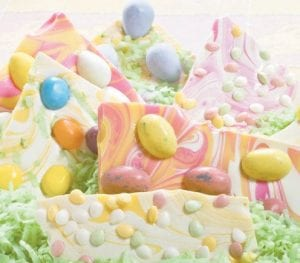 Easy to make Easter bark is a great treat to make with the kids and a good way to make use of all the candy around the house. (AP Photo/Larry Crowe)