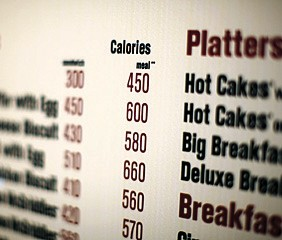 Calories of each food item appear on a McDonalds drive-thru menu in New York. Calorie counts will have to be listed on restaurant menus under a provision tucked into the massive health care overhaul bill. (AP Photo/Ed Ou, File)
