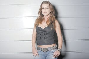 Country singer Gretchen Wilson poses for a portrait at John Rich's house in Nashville Tenn. (AP Photo)
