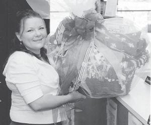 WINNER — Eva Combs is the winner of a University of Kentucky gift basket given away on April 1. The basket was a Relay for Life fundraising project on the Whitesburg Campus of Southeast Kentucky Community and Technical College. All proceeds will benefit the American Cancer Society.