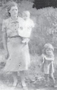 HOWARD FAMILY — The late Cindy Howard is pictured with the late Della (Howard) Pennington and Betty (Howard) Tyree in 1943.