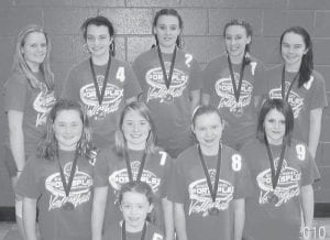 VOLLEYBALL CHAMPS — The Beckham Bates Elementary School volleyball team are the champions of the Intermediate Volleyball tourney held at the Knott County Sportsplex. Team members are Bailey Back, Rachel Runyon, Brandie Niece, Brooke Niece, Brooke Madden, Megan Combs, Carlie Combs, Katie Collins, Cassie Newton, and Keeka Sexton.