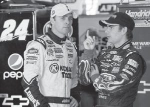 For at least a decade, Jeff Gordon (right) was NASCAR's biggest star The spotlight shifted four years ago when Hendrick Motorsports teammate Jimmie Johnson (left) began his run. (AP Photo)