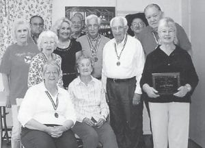 MEDAL WINNERS — Thirty Senior Games medal were won by competitors from the Ermine Senior Citizens Center. Pictured are Lydia Hall, Lennon Hammock, Judith Vermillion, Debbie Miranda, Ralph Collier, Ruford Hart, Carl Parrott, Winford Sturgill, S.T. Wright, Ruby Caudill, Coleene Hart, and Janice Foster. Not pictured are Joy Pease, Margaret Pease, Evelyn Caudill, Rosie Caudill, Rosie Collier, Andrew Sexton, and Anna Smith.