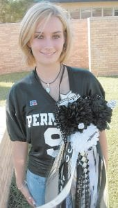 Kira Miles was a senior at Permian High School in 2004. She's ready here for homecoming. Permian, in Odessa, Texas, was the high school featured in the original Friday Night Lights. (Daily Yonder photo/Julie Ardery)