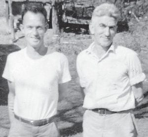 BROTHERS-IN-LAW — The late Henry Hatton and Bill Howard were married to two sisters, Etta (Fields) Hatton and Cindy (Fields) Howard.
