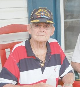 Pictured is veteran James Duncan, of Whitco, at the Memorial Day service at the Letcher County Veterans Memorial Museum in Whitesburg on May 31. Duncan spent 32 months and 14 days in a prisoner of war camp during the Korean War.