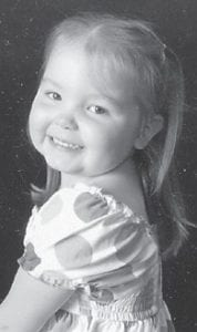 FIVE YEARS OLD — Cami Sergent celebrated her fifth birthday May 26 with family and friends at her home in Georgetown. Her parents are Jared and Christina Johnson Sergents, who are graduates of Jenkins High School and Eastern Kentucky University. Present at the birthday party were her grandparents, Randy Johnson of Payne Gap and Mike and Debbie Sergent of Jenkins, and her Uncle Matthew.