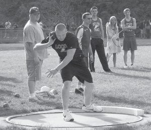 Dakota Cornett won the KHSAA Class 2A Region 7 Shot Put and Discus Championship on Saturday at Leslie County. He and other members of LCC's track team will compete in the state finals in Louisville on June 3.