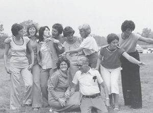 BIRTHDAY — Julie Sergent Lucas celebrated her 97th birthday. Pictured with her in this photograph from 1978 are her husband Edgar Lucas and her children Coetta, Loretta, Claudette, Shelby, Neal, Jolene, Fern, and Sheila.