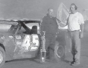 BOMBER DIVISION winner at the Lucky 7 Speedway Saturday night was Tim Mason.