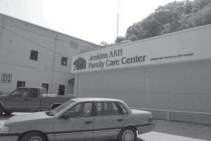 At right, the Jenkins ARH Family Care Center is located in the old Jenkins Community Hospital.