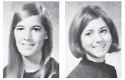 (Left to right are Valedictorian – Angela Lynn 'Jill' Combs. Salutatorian – Janice Kaye Lucas)