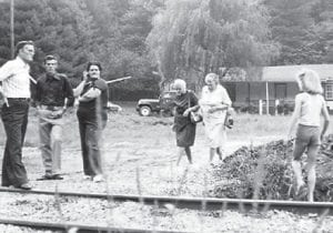 REUNION — Harrison Stidham, Wid and Minnie Page and his mother Mrs. Page, Dora Pennington and Kim Pennington are pictured at a reunion at Marlowe in 1978.