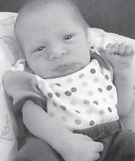 MAY BABY — Cullen Christopher Sexton was born May 18 at Whitesburg Appalachian Regional Hospital. He is the son of Cody and Ashley Sexton, and the grandson of Kathy Kincer, Glenn and Sandy Potter, and Phillip and Susanna Sexton. He is the great-grandson of Maxine and Delmer Cornett, the late Pearl Back, and the late David Jake and June Polly Kincer.