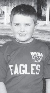 BIRTHDAY — Brayden Spencer Watts turned seven years old June 5. He plays soccer with the Woodford County Youth Soccer Association. He is the son of Bobby and Michelle Adams Watts and has an older brother, Tyler. His grandparents are Joanne Adams of Jeremiah and the late Roy Allen Adams, and the late Mary Jane Watts of Cornettsville.