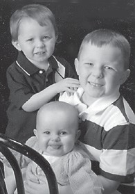 ONE YEAR OLD — Madeline Ruth Adams celebrated her first birthday June 17. She is pictured with her two older brothers, Lucas, 6, and Nicholas, 2. They are the children of Matthew and Katie Adams of Lexington. Their grandparents are Joanne Adams of Jeremiah and the late Roy A. Adams, and Roger and Cillia Fields of Defeated Creek.
