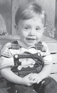 KAINE REYNOLDS, 1 ½, is the son of Destini and Jeff Reynolds. He is the grandson of Shannon and Jim Banks.
