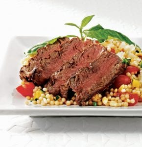 Filet with Farro Salad