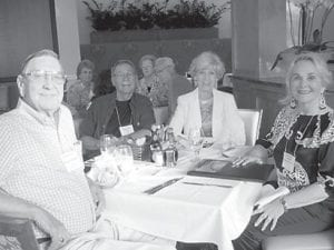 Herb Caudill (1947), T. Lee Adams and Sally F. Caudill ('52), and Phyllis Hall Adams ('56)