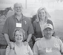 Randy Fields (1964), Vickie Moore Receveur ('64), Mahala R. Frazier ('64), and Sonny Frazier