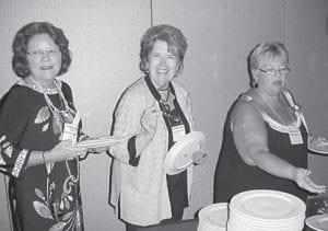 Clayshan Caudill Black ('68), Ann Daniel Hall ('56), Mary Blackson.