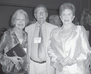Martha Ann Holbrook Boyd ('50), T. Lee Adams, Ginny Combs Coldiron ('50).