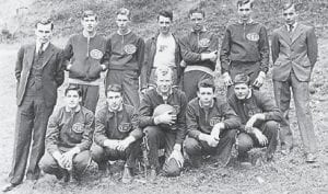 TEAMS — Pictured above is a basketball team and below a football team from Fleming High School. The teams are believed to have played in the mid to late 1930s. If anyone has information on these teams or the individual players, they are asked to contact Bennett Welch at bennett.welch@ gmail.com, 1638 Hwy. 2035, Whitesburg, Ky. 41858, or (606) 633-5966.