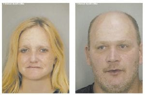 Marsha D. Breeding, left, and John Pugh are seen in photographs released by the Broward County, Fla., Sheriff 's Department. The two have been held in a Florida jail for nearly a month on charges of illegally possessing prescription drugs.