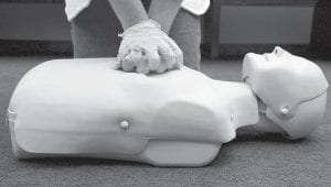 """Two new studies conclude that """"hands only"""" chest compression is enough to save a life. The American Heart Association has been promoting """"hands only"""" CPR for two years, though it's not clear how much it's caught on. The new studies should help, experts say. (AP Photo)"""