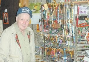 Rev. James 'Preacher' Johnson, 87, of Cumberland, has been collecting ink pens for 15 years and has more than 7,000 in his collection. The Letcher County native has a goal of collecting 10,000 ink pens.