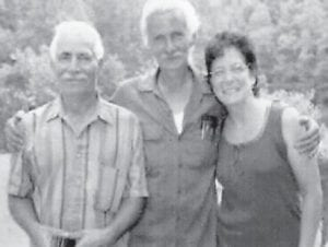 Walter McCall is pictured with Russell McCall and Joyce McCall Morris.
