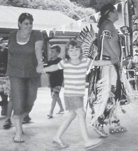 CELEBRATION — Kaitlyn Moore, 5, of Neon, daughter of Gary Moore, and Spicy Johnson celebrated their birthdays at a Native American dance in Cherokee, N.C. Kaitlyn is a kindergarten student at Martha Jane Potter Elementary School.