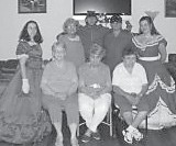 CAST MEMBERS of 'The Little Shepherd of Kingdom Come' outdoor drama recently were invited to have lunch with senior citizens at the Blackey Center. Pictured are (front, left to right) Claudia Banks, Jean Collins, Linda Jones, (back) Rachel Woodward, Bonnie Asher, Jarrett Slone, Vicki Collins, and Alessandra D'Amato. Bonnie Asher was a cast member in the original drama, which was performed at Van in the 1970s and '80s.