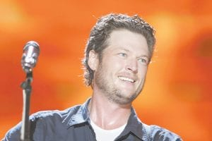 Blake Shelton was photographed performing in Nashville earlier this summer. (AP Photo)